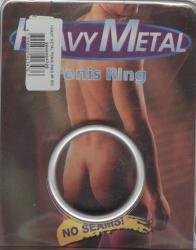 Těžký HEAVY METAL plochý kroužek na penis - 45 mm
